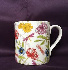 Bone China Dragonfly And Floral Pattern Mug