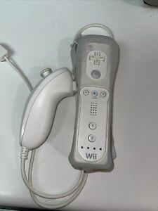 Official Nintendo Wii Remote RVL-003 and Original Nunchuck OEM White Controller