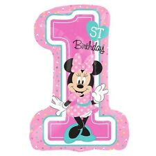 Party Supplies 1st Birthday Girls Minnie Mouse Fun To Be One Shape Foil Balloon
