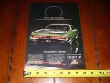 1969 CHRYSLER 300 - ORIGINAL VINTAGE AD