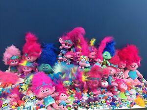 Used Modern LOT 100 Trolls the Movie World Toy Plush Figures Dolls DWA Hasbro
