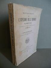 Manuale Pratico per l'Ispezione delle Derrate Alimentari Musso UTET 1899 Igiene