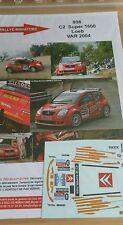 DECALS 1/43 REF 808 CITROEN C2 S1600 SEBASTIEN LOEB RALLYE DU VAR 2004 RALLY WRC