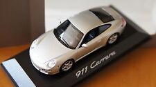 1:43 PORSCHE 911 Carrera 997 Typ I silver MINICHAMPS silber.4s s 4 1