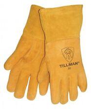 """Tillman 35 Large MIG Welding Gloves Heavyweight Golden Deerskin 4"""" Cuff 1Pair"""