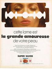 PUBLICITE  1969   GILLETTE   lame rasoir SUPER SILVER