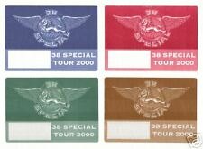 38 SPECIAL - BACKSTAGE PASS PASSES - 4 SELF ADHESIVE CLOTH PATCHES