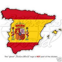 ESPAGNE Espagnol Carte - Drapeau Espana UE , Autocollant Decal