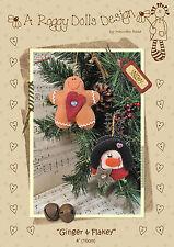 Ginger & Manopola-Cucito Craft pattern-Natale Decorazioni Albero Di Feltro