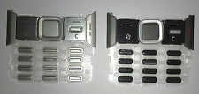 Keypad keyboard for Nokia N82 -- Black & Silver, 2 pieces set