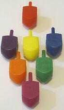 Chanukah Hanukkah Dreidels Plastic lot of 100 various colors Fast Shipping
