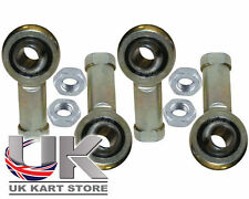 Female 8mm Kart Track Rod End & Nuts Pack of 4 - 2 Right Hand & 2 Left Hand