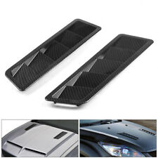 Fits 17X5Inch Universal Carbon Fiber Hood Vent Louver Air Cooling Panel Trim Set