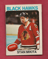 1975-76 OPC # 30 CHICAGO HAWKS STAN MIKITA  CARD