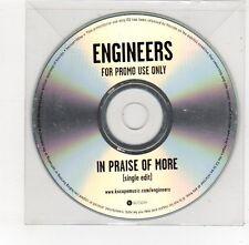 (FE656) Engineers, In Praise Of More - DJ CD