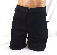 Calvin Klein Belted Utility Cargo Shorts Size 36 Black 41O6150 79C