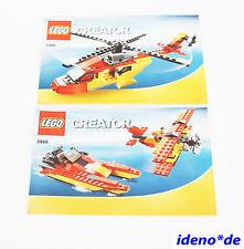 LEGO CREATOR Bauanleitung 5866 Rettungs Hubschrauber Boot Fugzeug NO PARTS