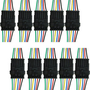 10 x 6-Polig Kabel Steckverbinder Stecker Wasserdicht Schnellverbinder