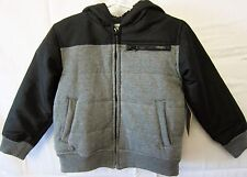 New Route 66 Boys Black Grey Hooded Jacket Coat Size XS 4/5 Retails $39.99