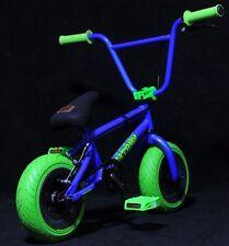 "10"" Fatboy Mini  BMX Bicycle  Fat Tires Boy ( one piece crank) blue /neon green"