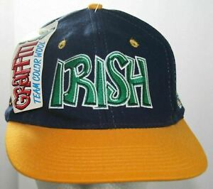 NWT VTG Notre Dame Fighting Irish Snapback Cap 80s Script Top of the World Hat