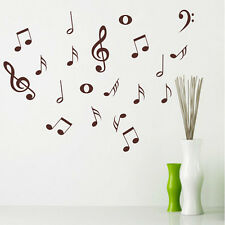 Music Notes Art Vinyl Wall Sticker Home Decor Musical Notation Decal Mural New