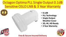 Octagon Optima Oslo SINGOLO 0.1dB LNB sensibili PLL Technology & 3 anni di garanzia
