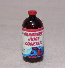 Dollhouse Miniature Cranberry Juice Bottle Grocery Hudson River 1:12 Scale