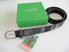 cintura belt unisex scamosciata nera grigia made in Italy Seminole