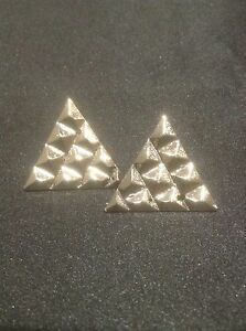Vintage Style Silver Triangle Earrings. Silver Triangle Jewellery
