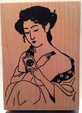 Art Accents - Asian Woman - Wood Mounted Rubber Stamp