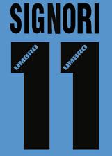 Lazio Signori local Camiseta De Fútbol Número Letra H 96 maglia Umbro de fútbol de calor