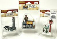 Lemax Christmas Village Figurine Accessories Lot of 3