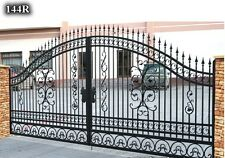 WROUGHT IRON  HAND MADE DRIVEWAY SLIDING GATE MADE TO MEASURE