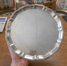 "Gorham Chippendale Sterling Silver 10"" Tray Platter Vanity Round"