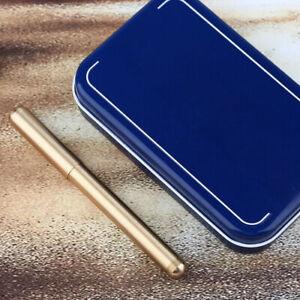 NEW Delike Element Metal Brass Mini Pocket Fountain Pen Extra Fine/Art/Fine Nib