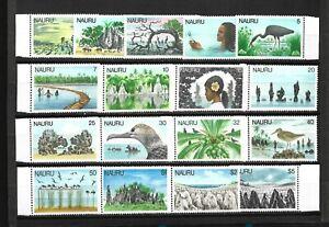 Nauru Is. 1978-79 Definitive Set ( View & Bird)) Sc#165-81 MNH