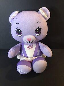 "Fisher Price DOODLE BEAR Purple Ballerina 15"" Tall"