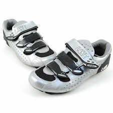 Lake CX 165 Silver Leather Race Cycling Shoes Size 41