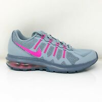 Nike Womens Air Max Dynasty 816748-401 Gray Pink Running Shoes Lace Up Size 7