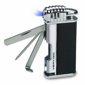 Vertigo Puffer Black Butane Pipe Lighter, Pipe Cleaning Tools-Tamper & Reamer