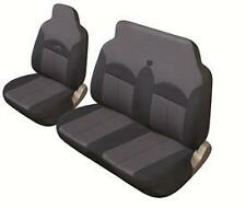 Pair 2+1 Black/Grey FABRIC Cloth VAN Seat Covers Suits IVECO DAILY