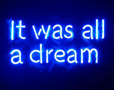 """New It Was All A Dream Blue Color Pub Acrylic Neon Light Sign 20"""""""