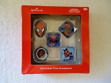 "Hallmark Marvel Spiderman "" Nib "" Christmas Tree Ornaments "" Great Collectible """