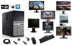ORDINATEUR PC FIXE COMPLET DELL 3010 MT i3 WIFI HDD SSD WINDOWS 10 4GO/8GO