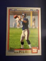 2001 Topps #342 JESSE PALMER Rookie RC New York Giants QB Florida Great Look !