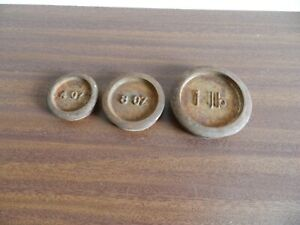 Vintage  balance scale weights