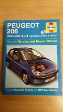 PEUGEOT 206 98-01 PETROL DIESEL HAYNES WORKSHOP MANUAL 3757 NEW UNUSED FREE P&P