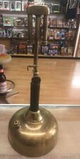 """Early COLEMAN Quick-Lite Gas Lantern All Brass Base 19"""" Vintage Camping Equip"""