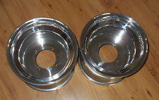 "POLISHED ALUMINUM 4X115 10"" REAR WHEELS, RIMS 10x8,YFZ450,RAPTOR,BANSHEE,WARRIOR"